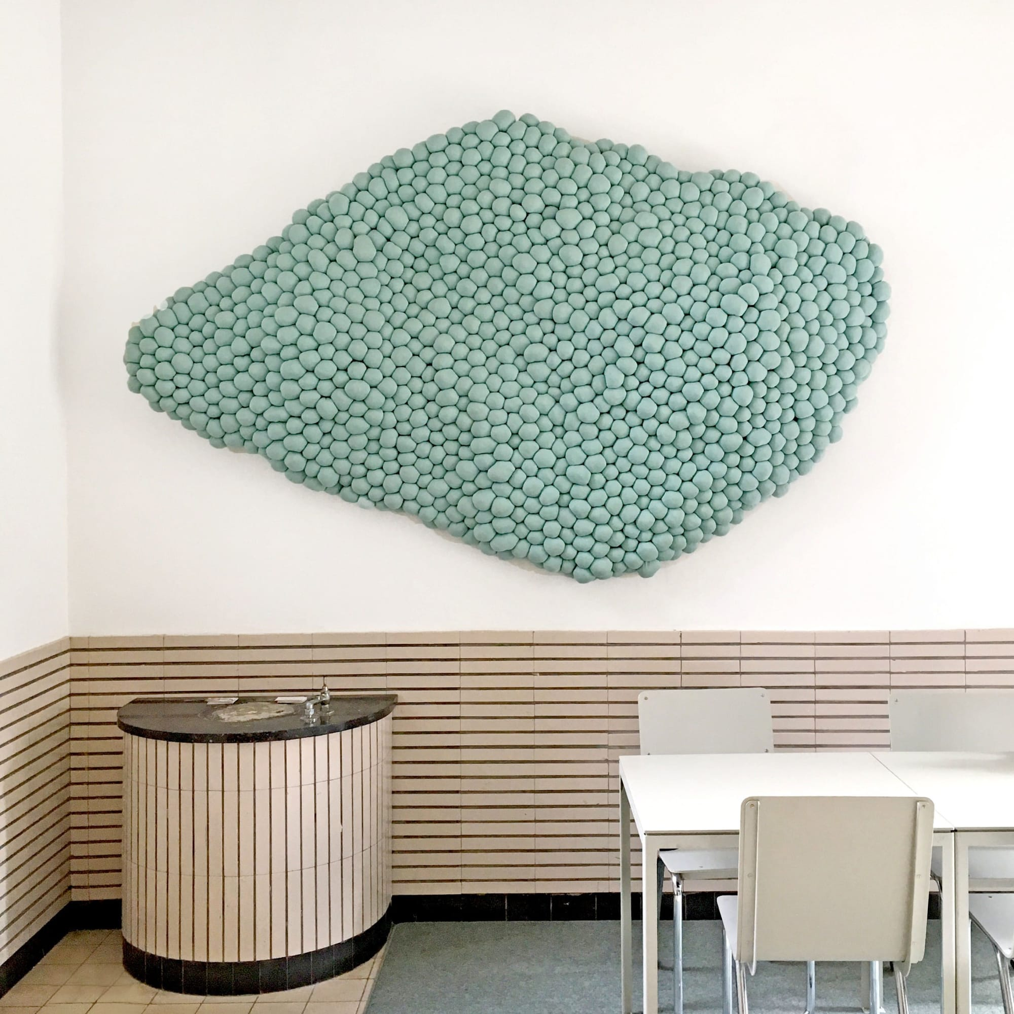Large textile Green Wall Art