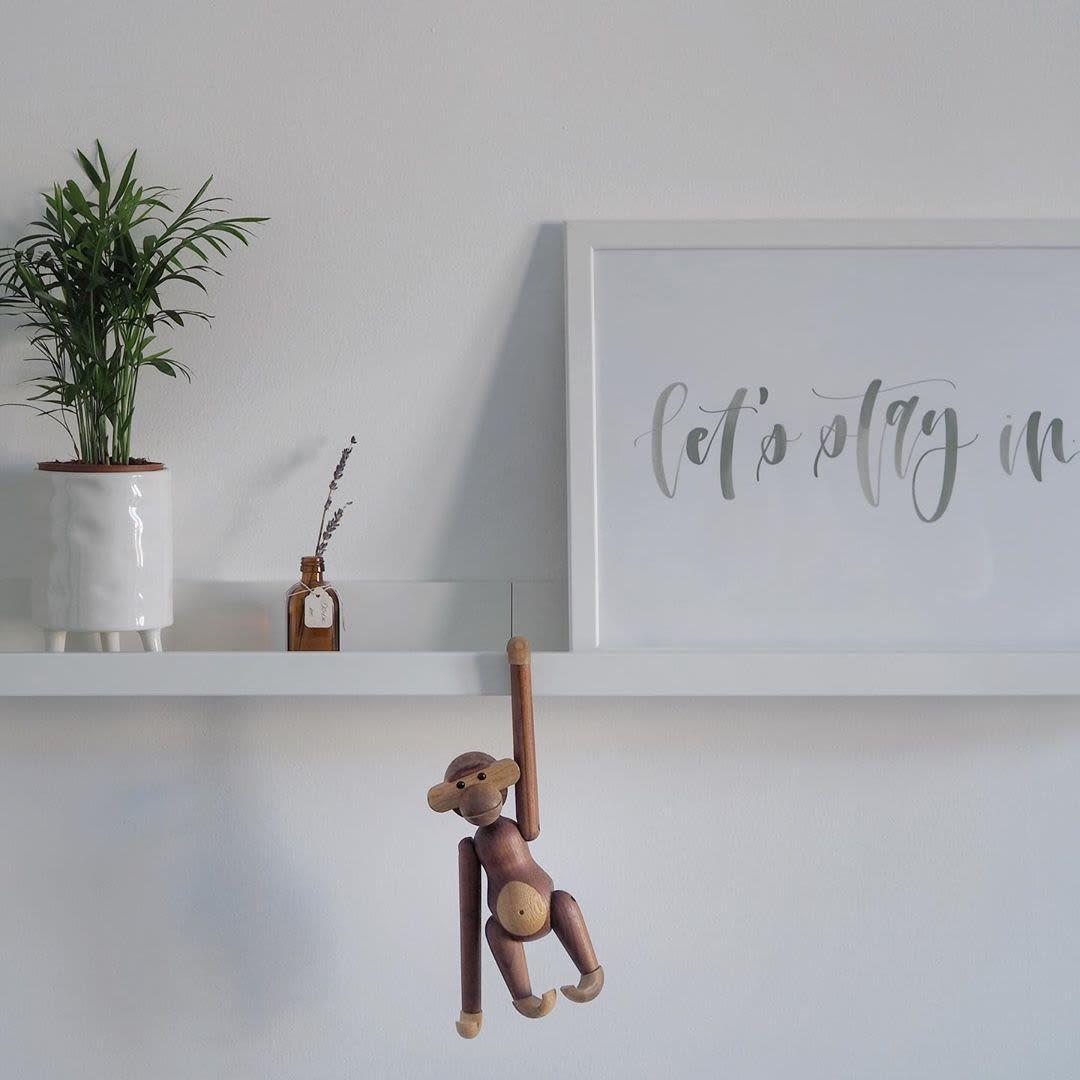 Wooden Hanging Monkey Sculpture