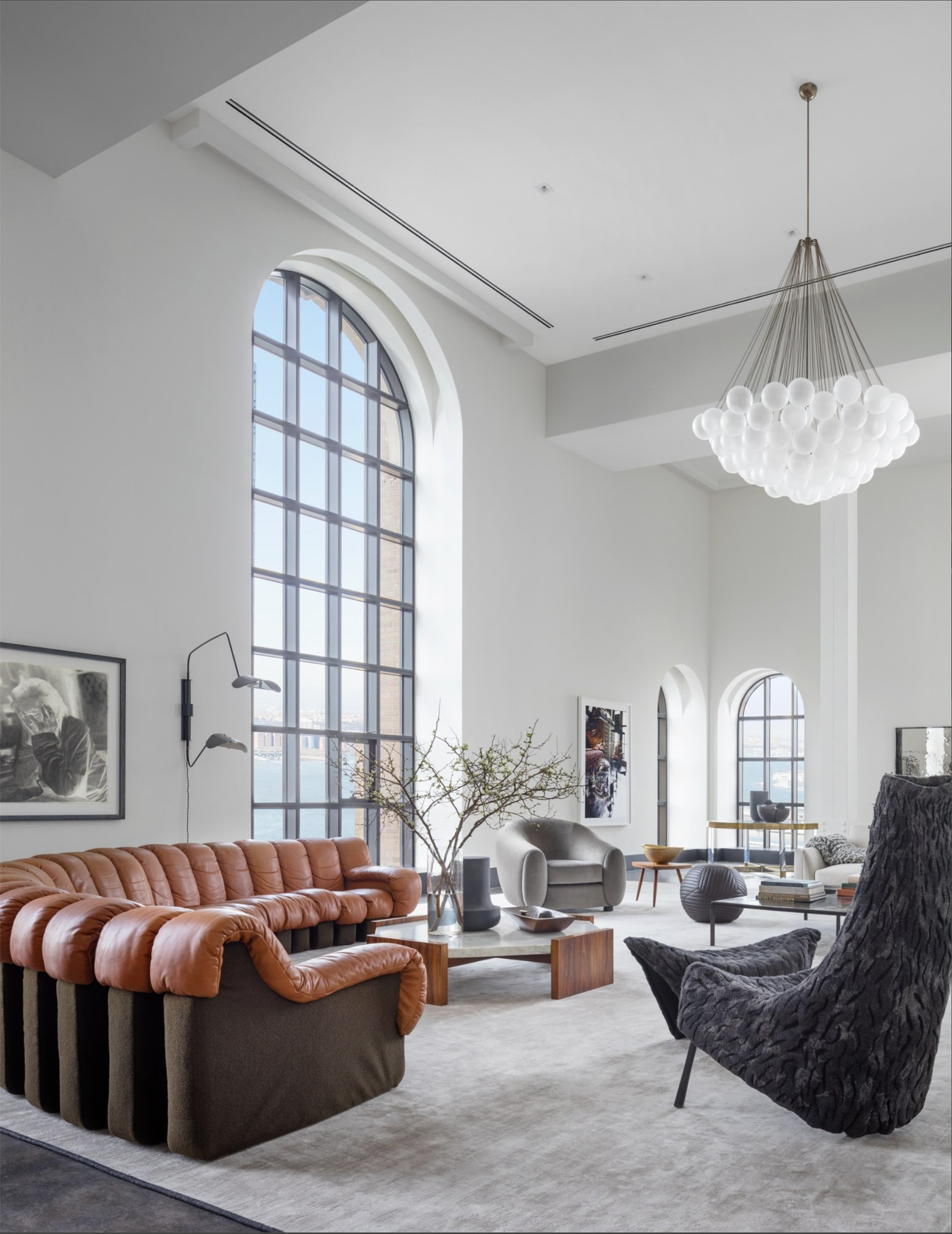 Benches & Ottomans by Moses Nadel seen at One Hundred Barclay Condominiums, New York - Banded Ottoman