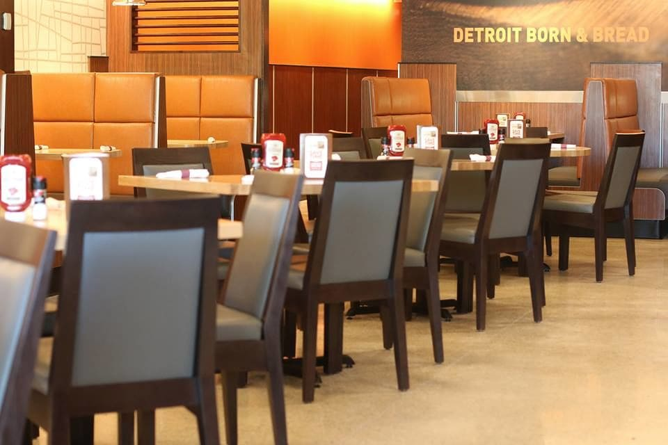 Interior Design by Martone Design Studio LLC seen at Olga's Kitchen, Monroe - Interior Design