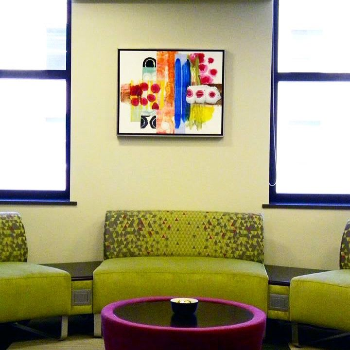 Paintings by Mary Zeran seen at United Fire Group, Cedar Rapids - United Fire Group Painting Installations