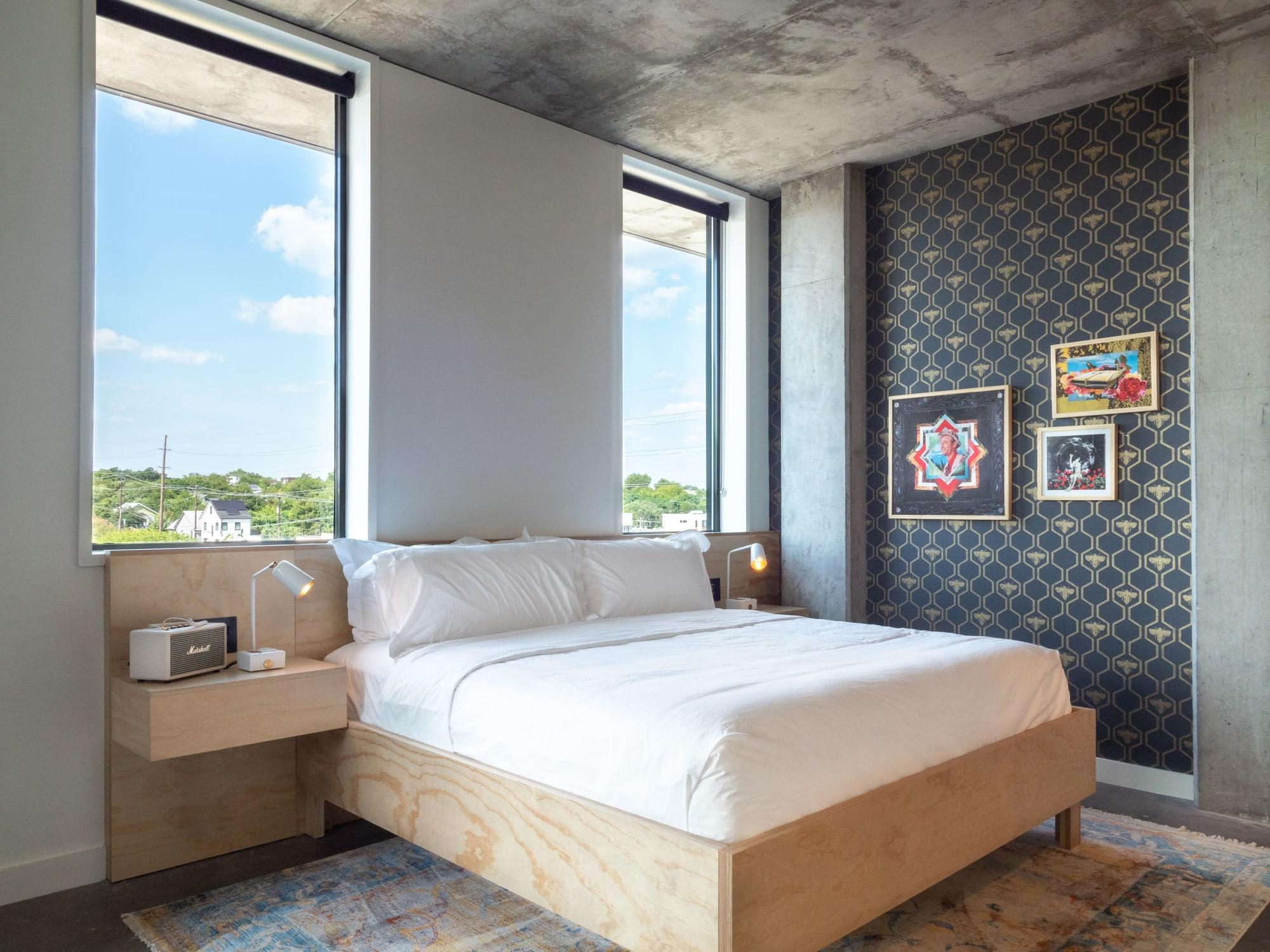 bedroom with a view in ARRIVE austin