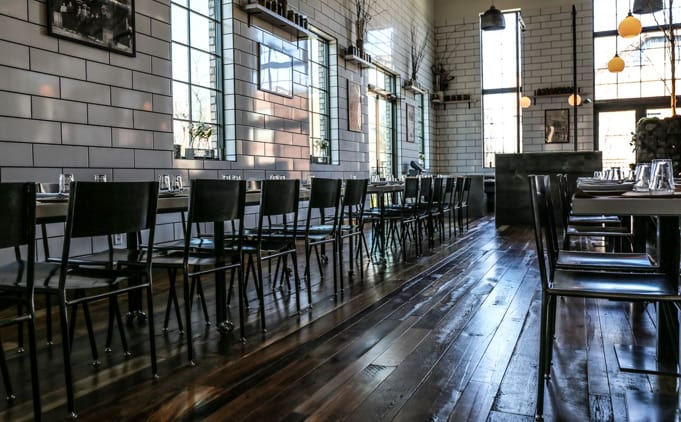 Chairs by Metal Fred seen at Butchertown Hall, Nashville - Steel Dining Chair