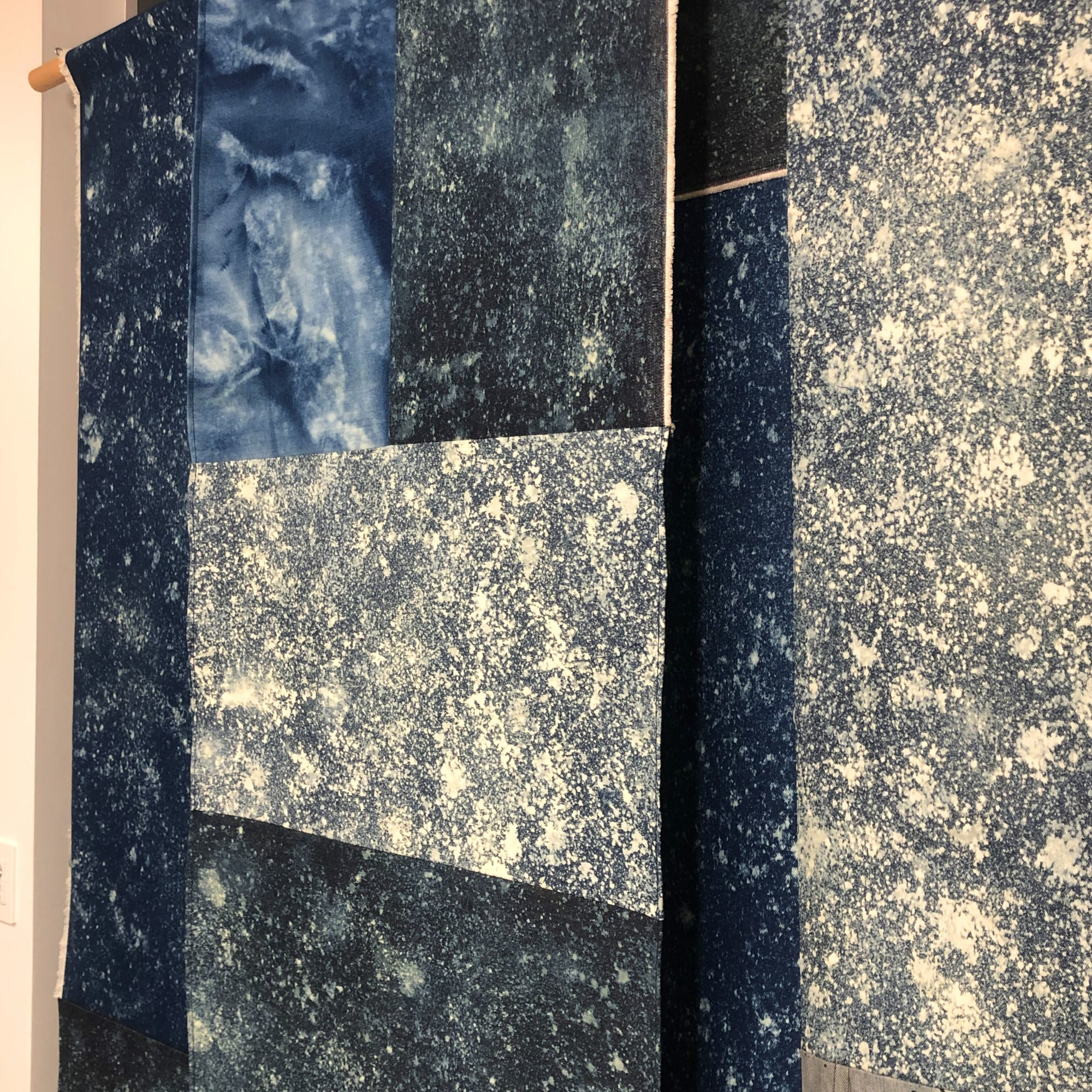 """Wall Hangings by ANTLRE - Hannah Sitzer seen at Google RWC SEA6, Redwood City - """"Midnight"""""""
