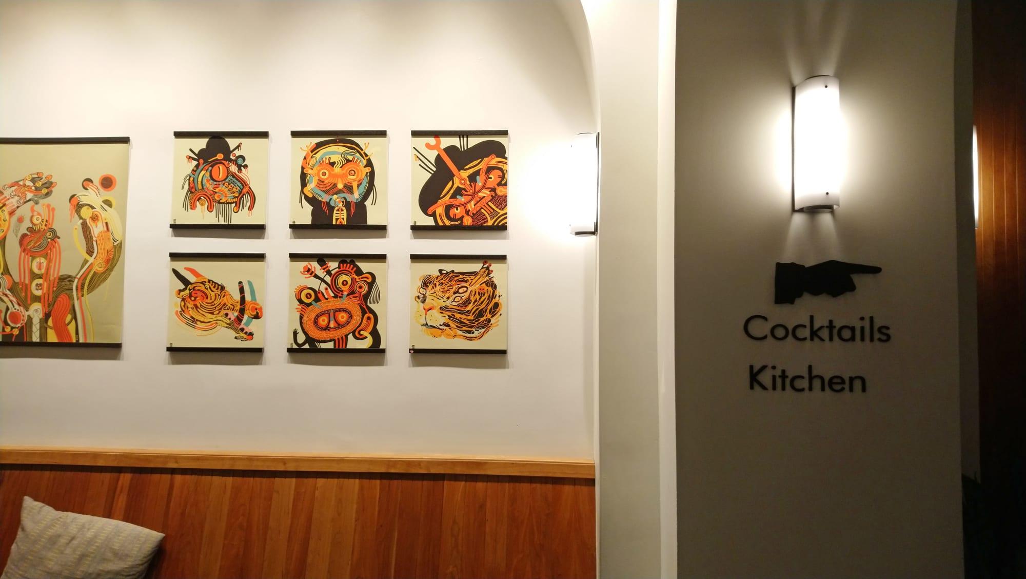Paintings by Leonardo Nino seen at Tilden Hotel, San Francisco - Transmutations
