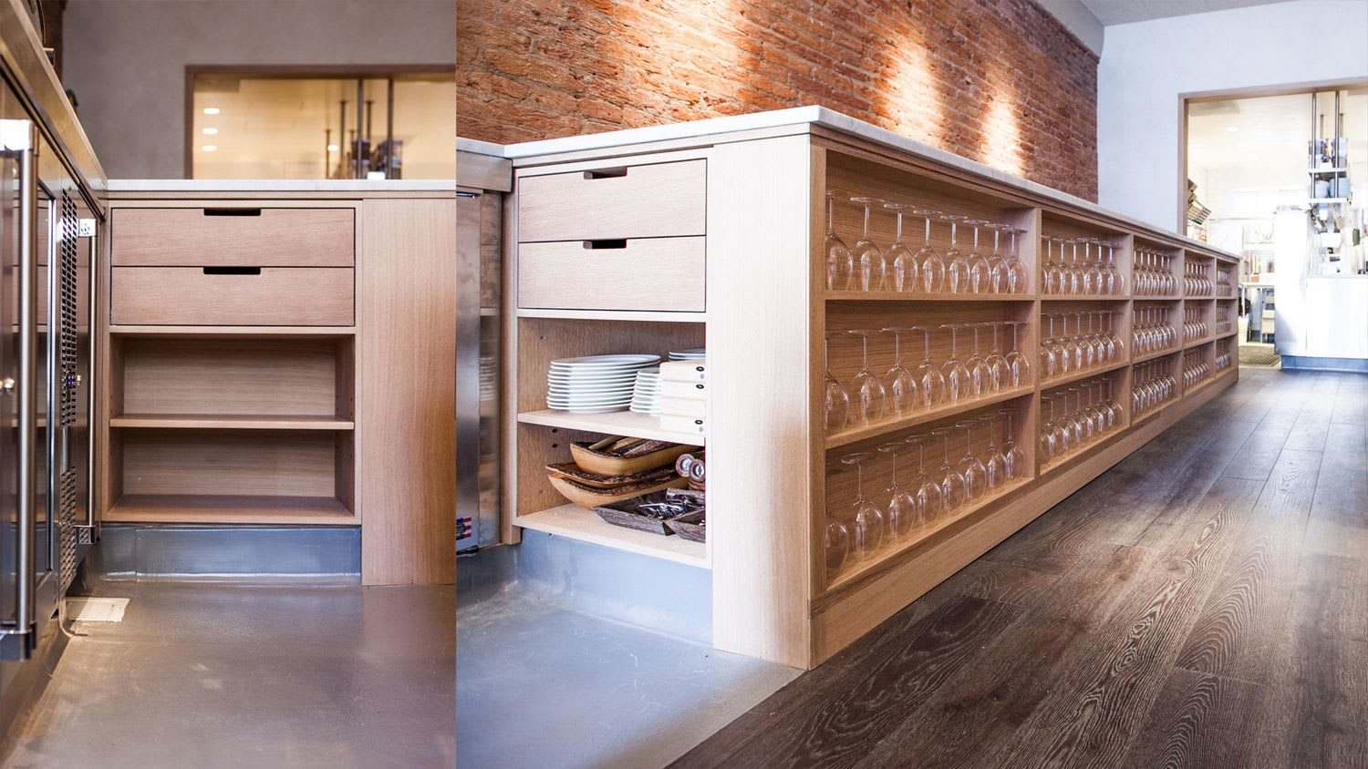 Furniture by FineRoot seen at Nico, San Francisco - Custom Millwork