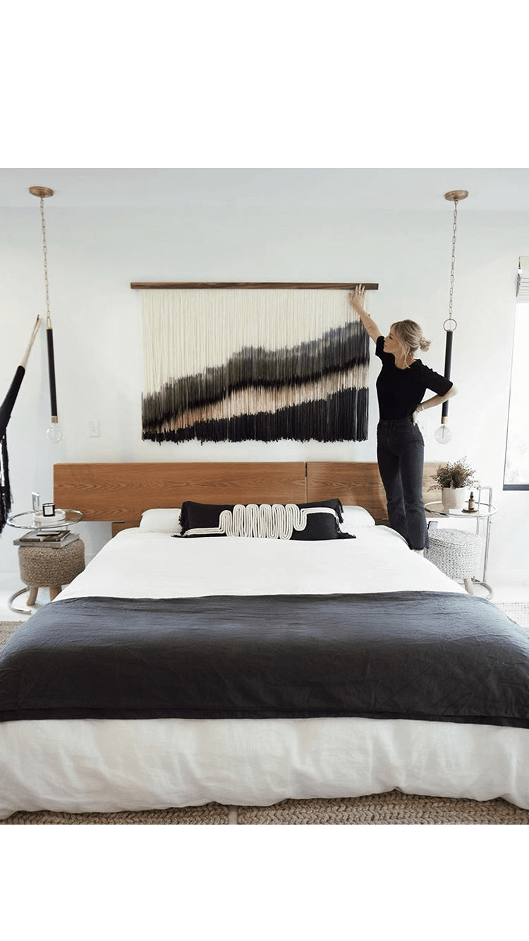 Layered textile wall hanging
