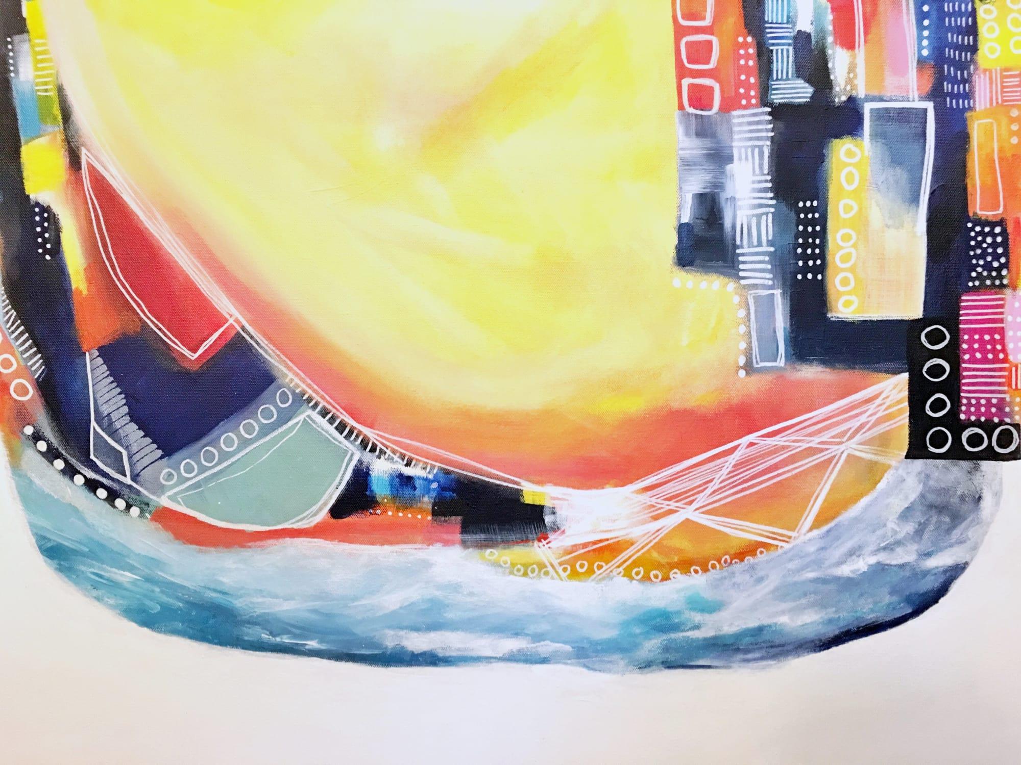 Paintings by Melanie Biehle seen at Gray Sky Gallery, Seattle - Salt Water Taffy
