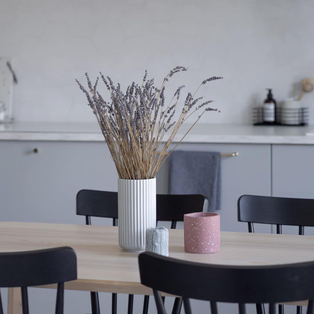 Tall Fluted White Minimal Vase