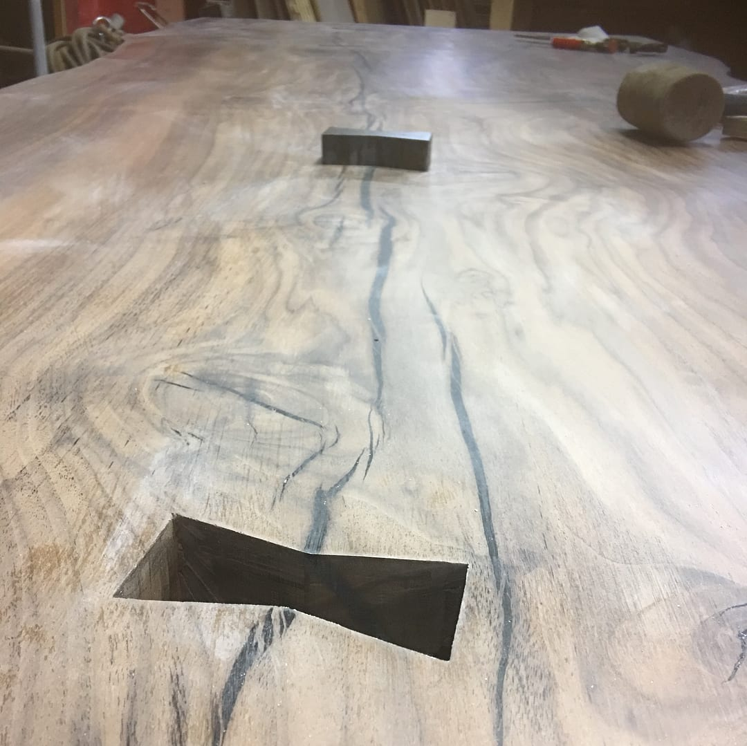 Tables by Paul Charette seen at Private Residence, Wellesley - Live Edge Walnut Dining Table