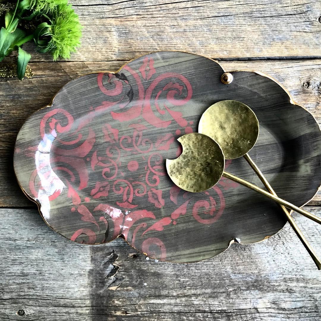 Brass Minimalist Circular Serving Spoon
