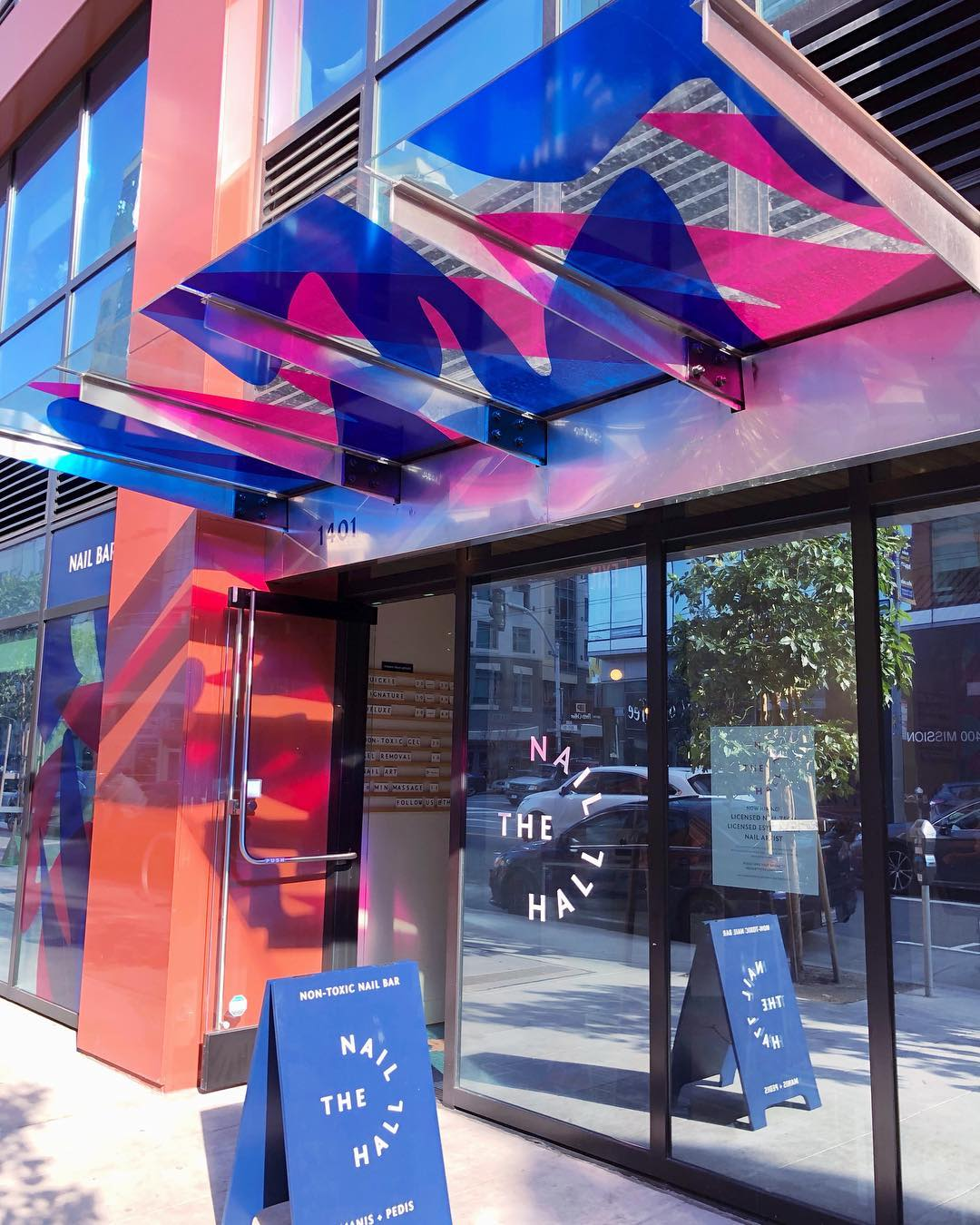 Art & Wall Decor by Nicole Mueller seen at The Nail Hall, San Francisco - Awning Colored Vinyl