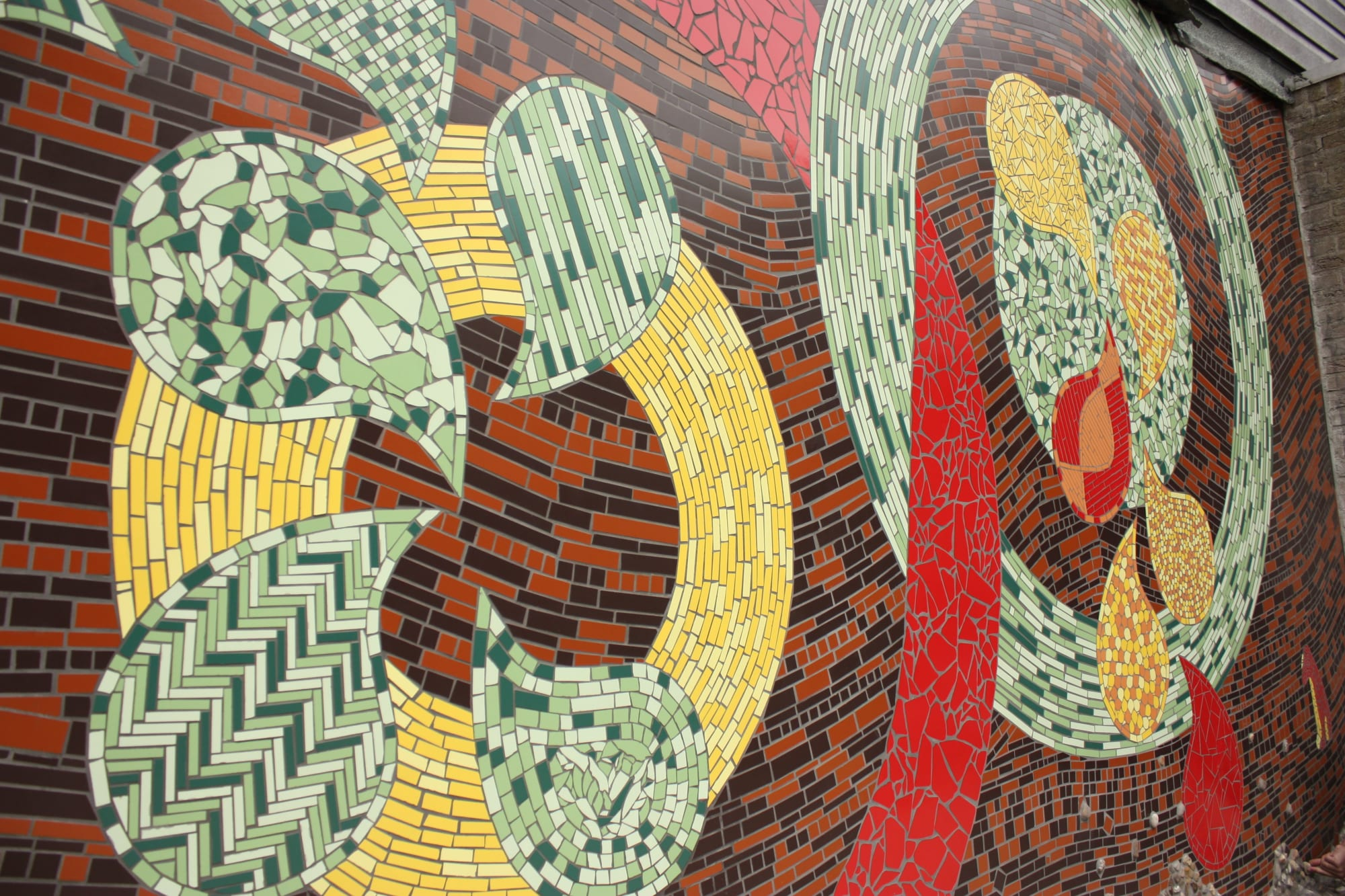 Public Mosaics by Peter Vial seen at Private Residence, Amsterdam - The Wall