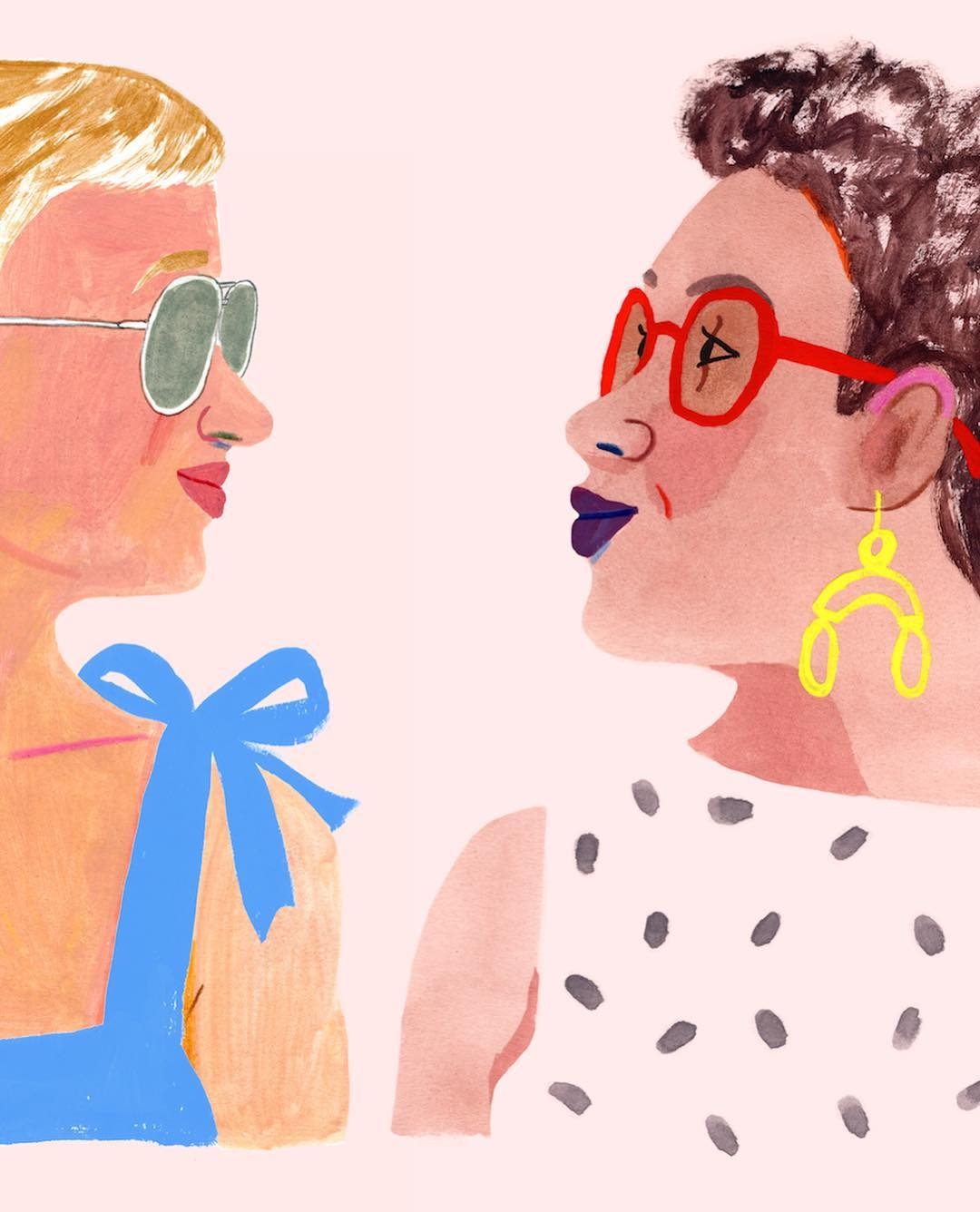Murals by Rebecca Clarke seen at Warby Parker Raleigh, Raleigh - Warby Parker Mural Portraits