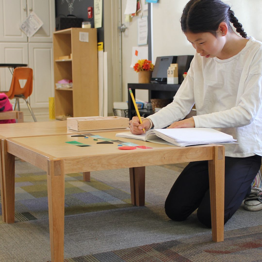 Tables by Clay Street Woodworks seen at Compass Montessori School, Wheat Ridge - Compass's Lap Tables