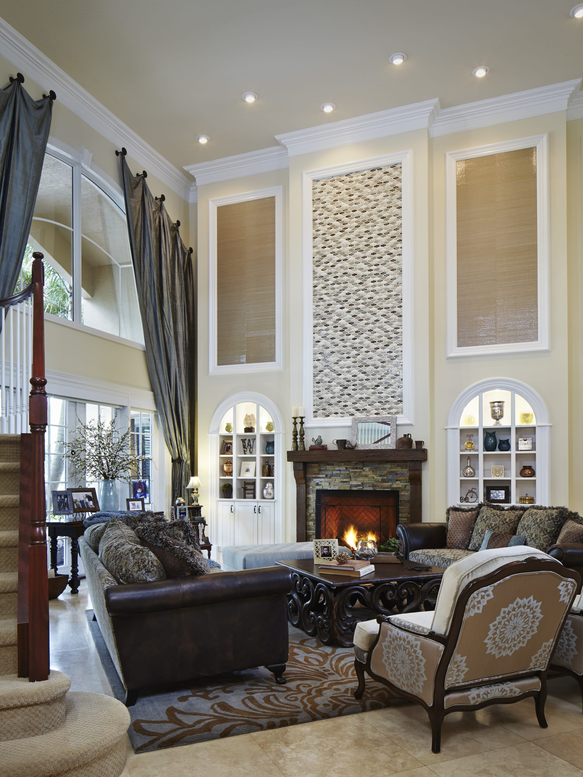 Interior Design by Jaime Blomquist Interiors seen at Private Residence, Davie - Rustic Transitional Retreat