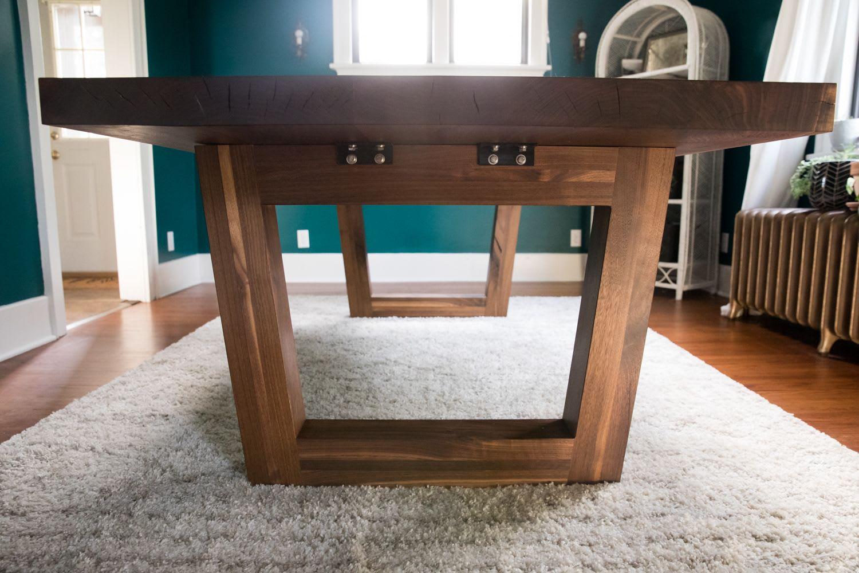 Half Tree Black Walnut Dining Table By, Walnut Dining Room