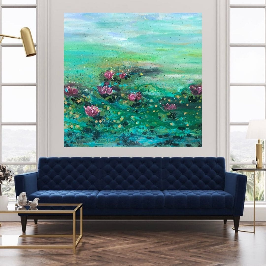 Impressionist Waterlily painting