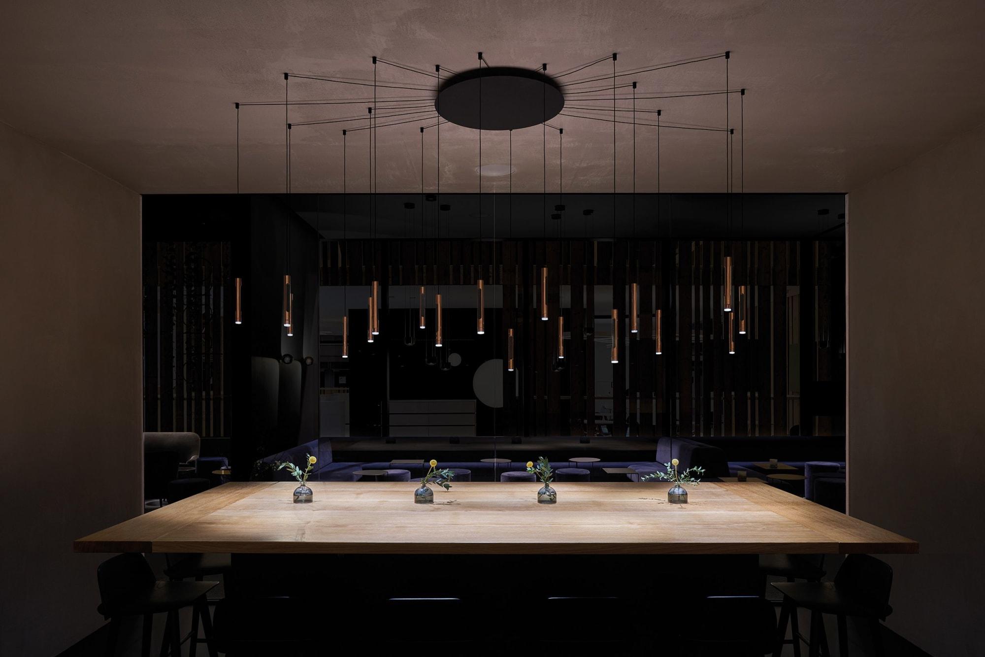 Interior Design by 1zu33 seen at Frankfurt(Main) Messe, Frankfurt - Booth at Light+Building 2018, Occhio