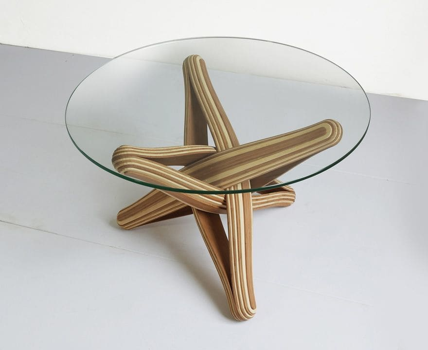 "Tables by J A NP A U L seen at Private Residence - Maastricht, Netherlands, Maastricht - ""Lock""   bamboo coffee table"