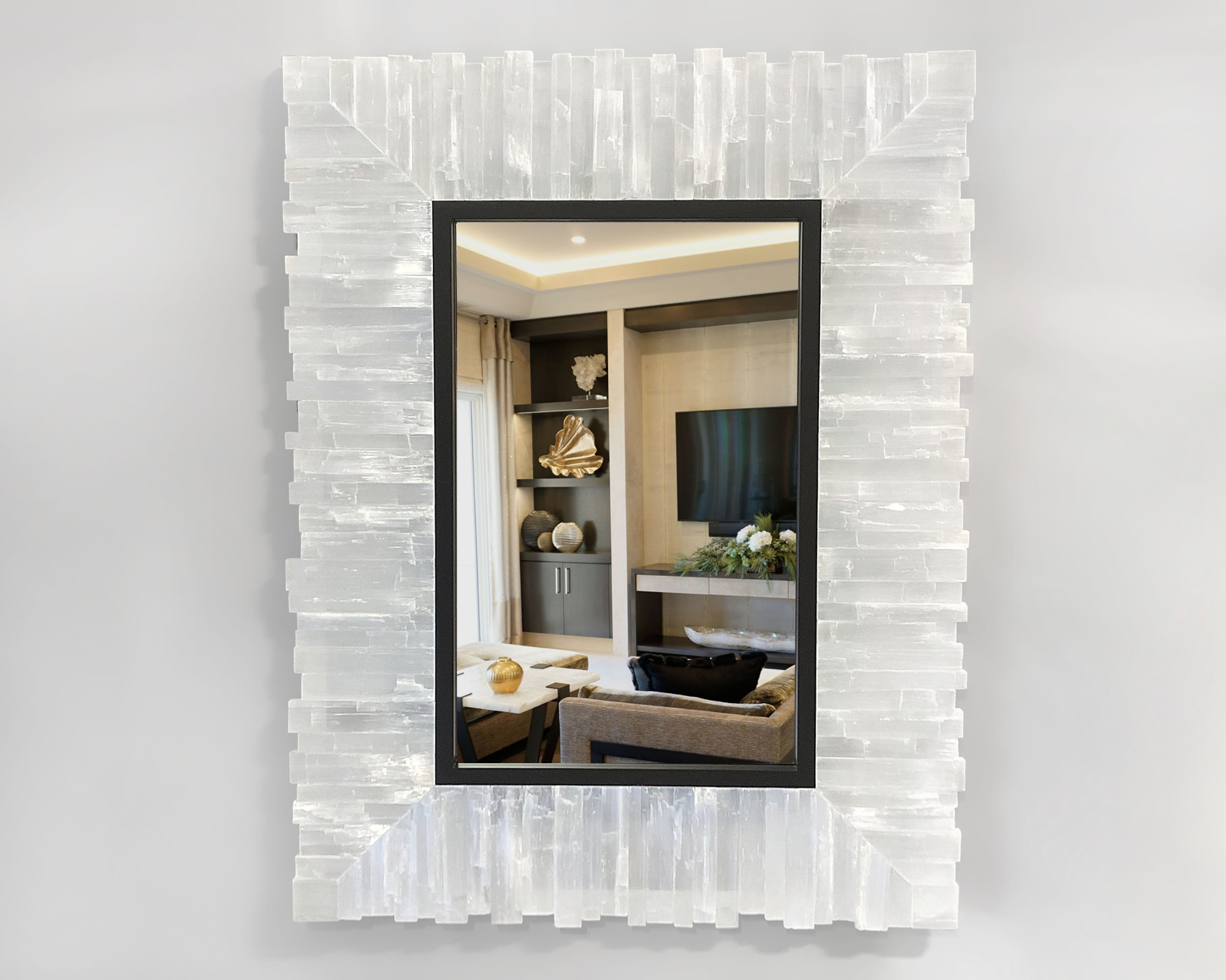 Wall Hangings by Ron Dier Design seen at Thomas Lavin Inc, West Hollywood - Selenite Mirror