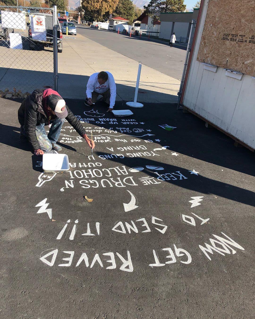 Street Murals by Josh Scheuerman seen at Utah State Fairpark, Salt Lake City - Vans Skate Park Art