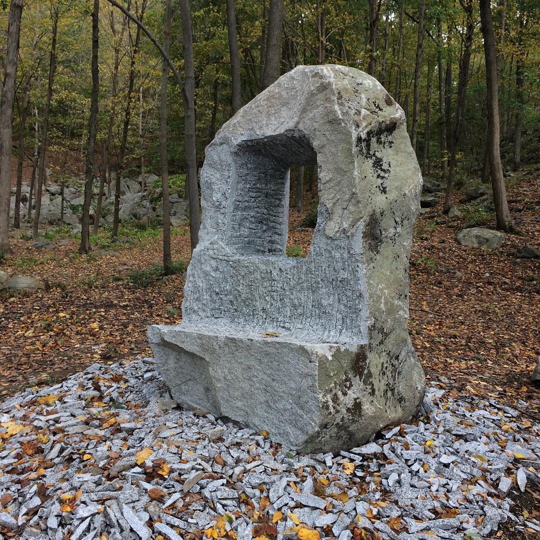 Public Sculptures by Rock and A Soft Place studios seen at Crystal Park 協和山莊, Holmes - Window to the Past