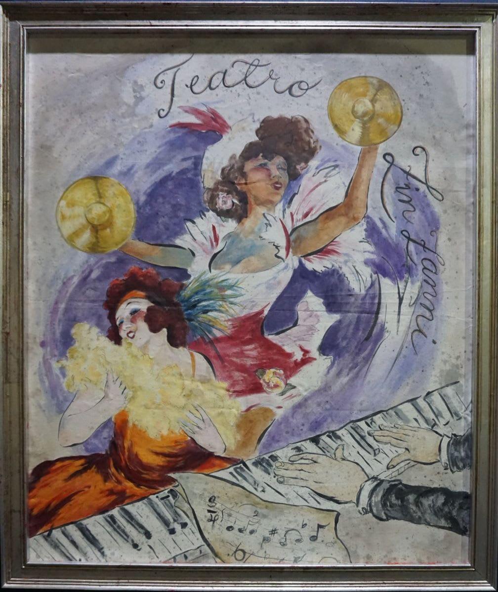 Murals by Letty Samonte seen at Teatro ZinZanni Chicago, Chicago - Divas and Madmen