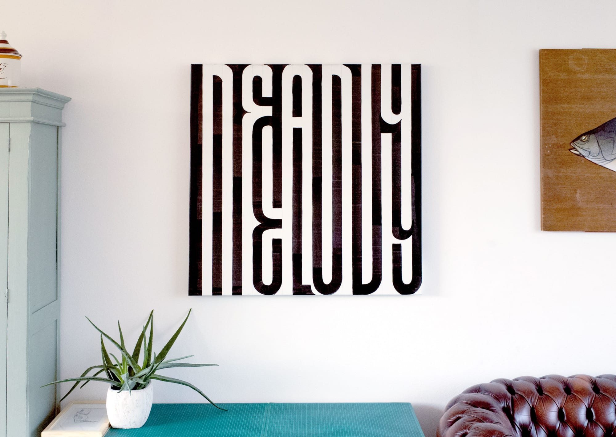 Deadly Melody Black and White Wall Art