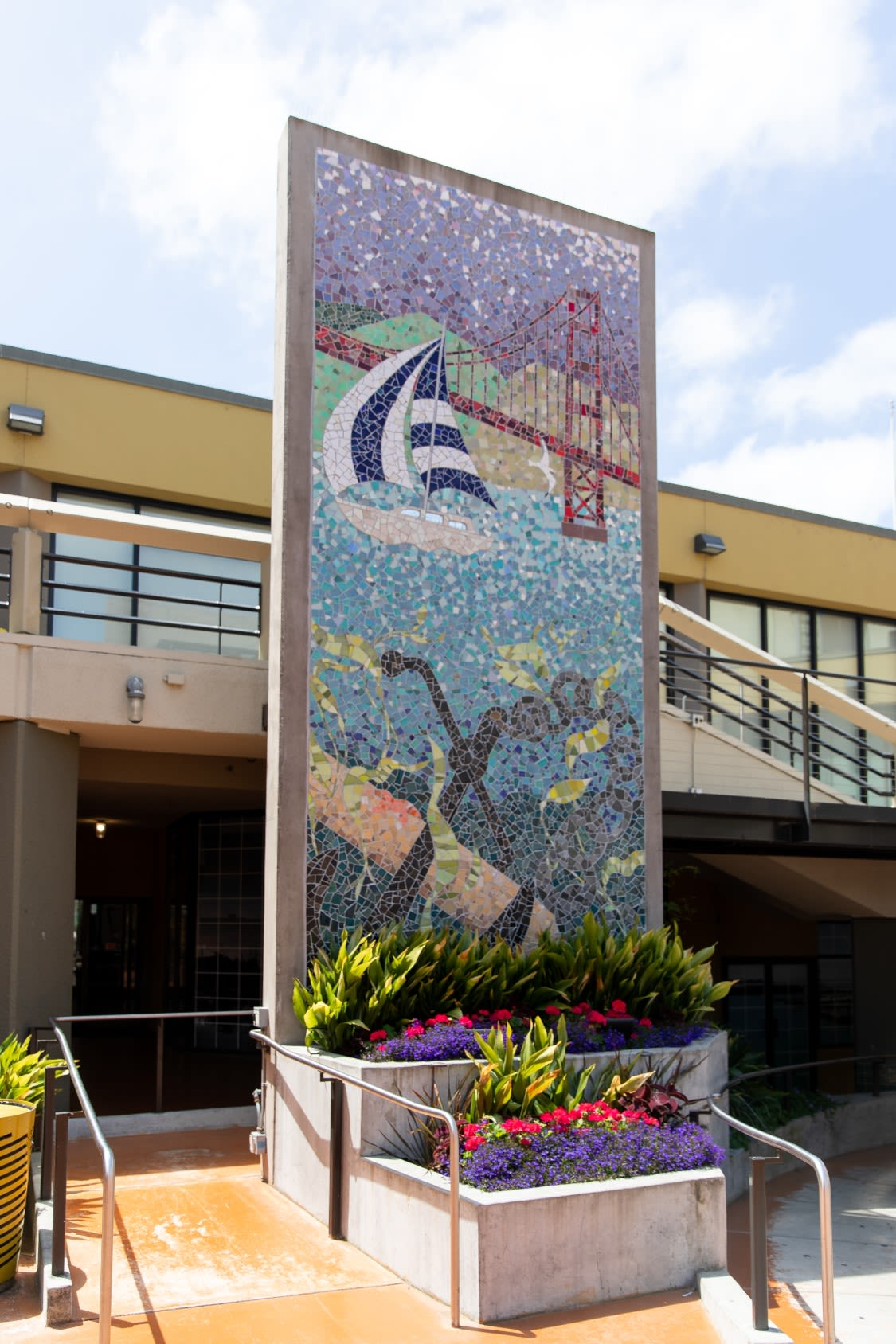 Murals by Delaine Hackney seen at Anchorage Square, San Francisco - Buried Anchor