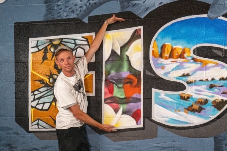 Murals by Josh Scheuerman seen at Fisher Brewing Company, Salt Lake City - Welcome To Fisher