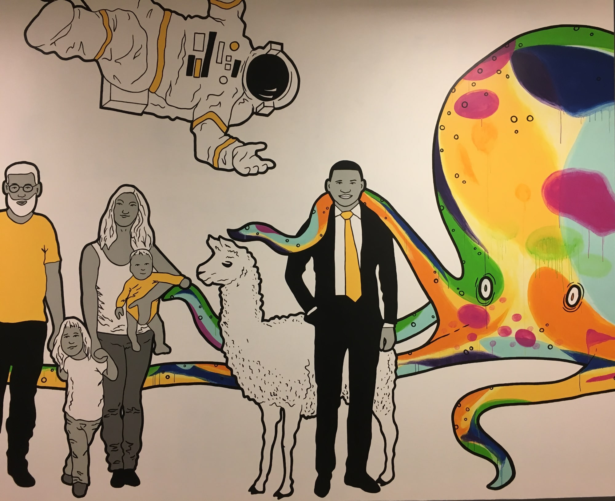 Murals by Avery Orendorf seen at Gateway Church South, Austin, TX, Austin - Come As You Are