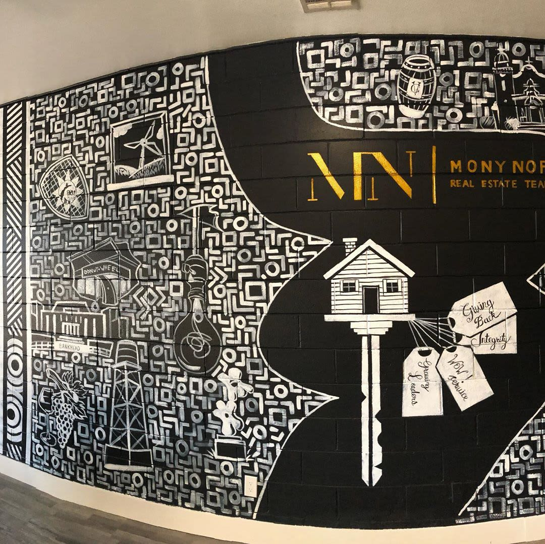 Murals by Elliot Trent Thompson seen at Mony Nop Real Estate | Compass, Livermore - Mony Nop Real Estate Mural