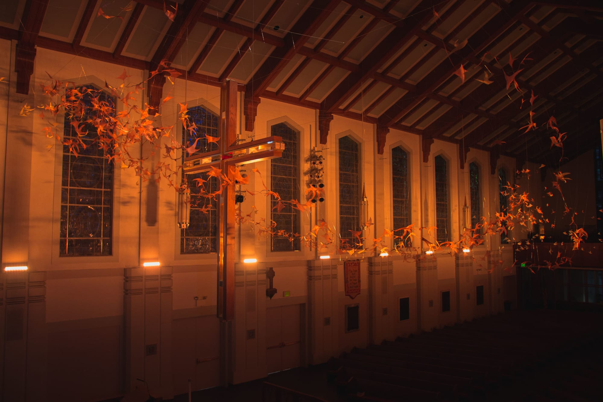 Public Sculptures by Anne Patterson Studio seen at Christ Church Cathedral, Cincinnati - Murmuration