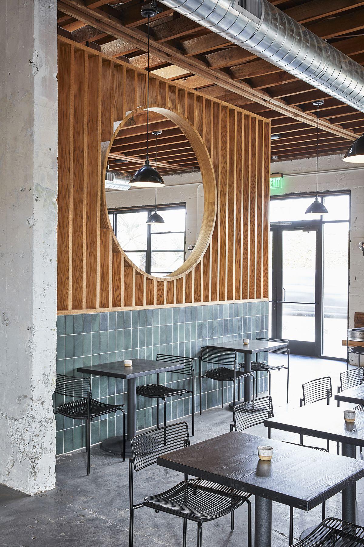 Clean yet Deconstructed Restaurant Interior