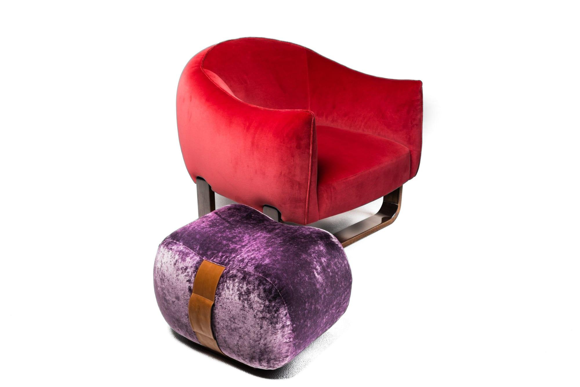 Chairs by Marie Burgos Design seen at New York, New York - Milo Armchair + Milo Bean Ottoman
