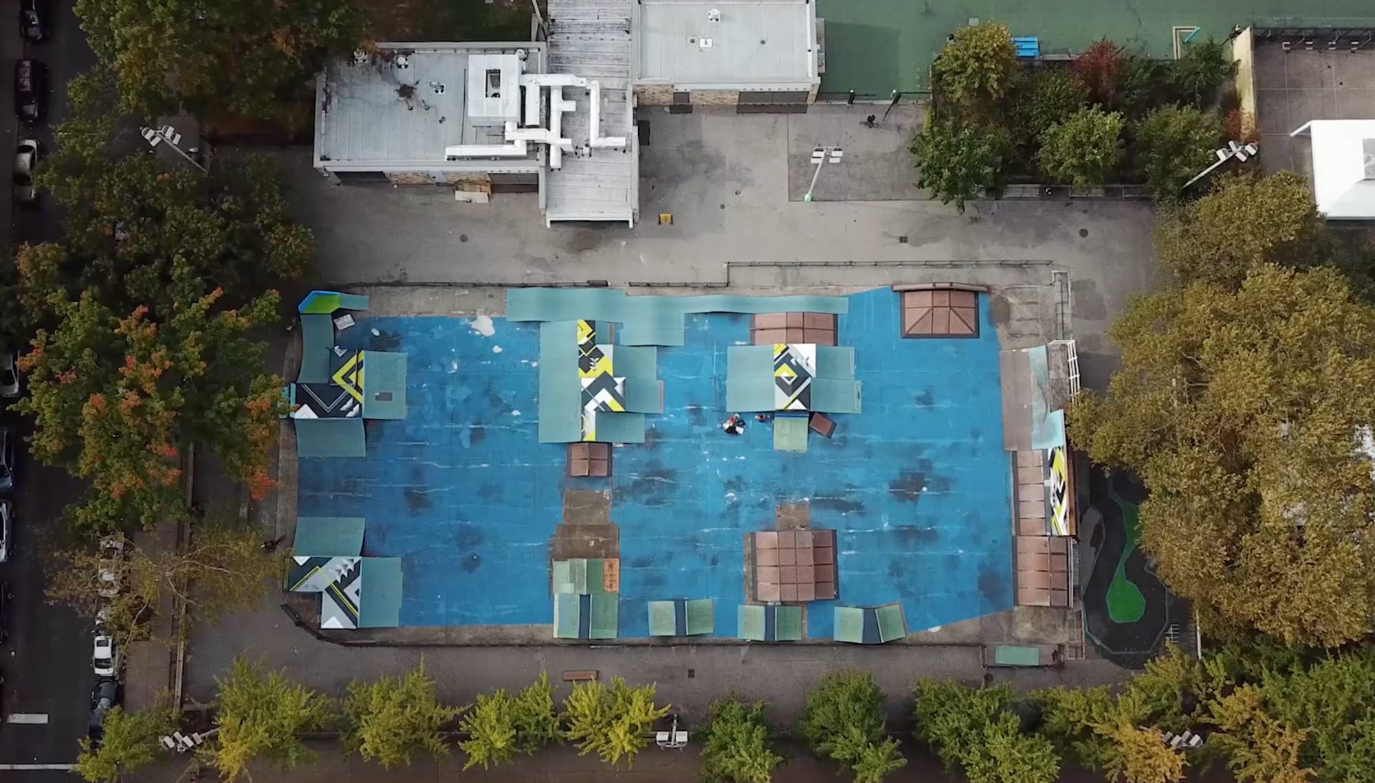 MULLALY BIKEPARK by LAMKAT, Street Murals at Mullaly Skate Park, Public Service Center