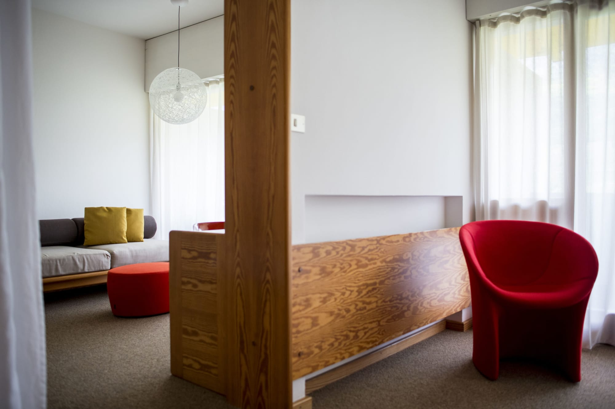 Red modern retro chair