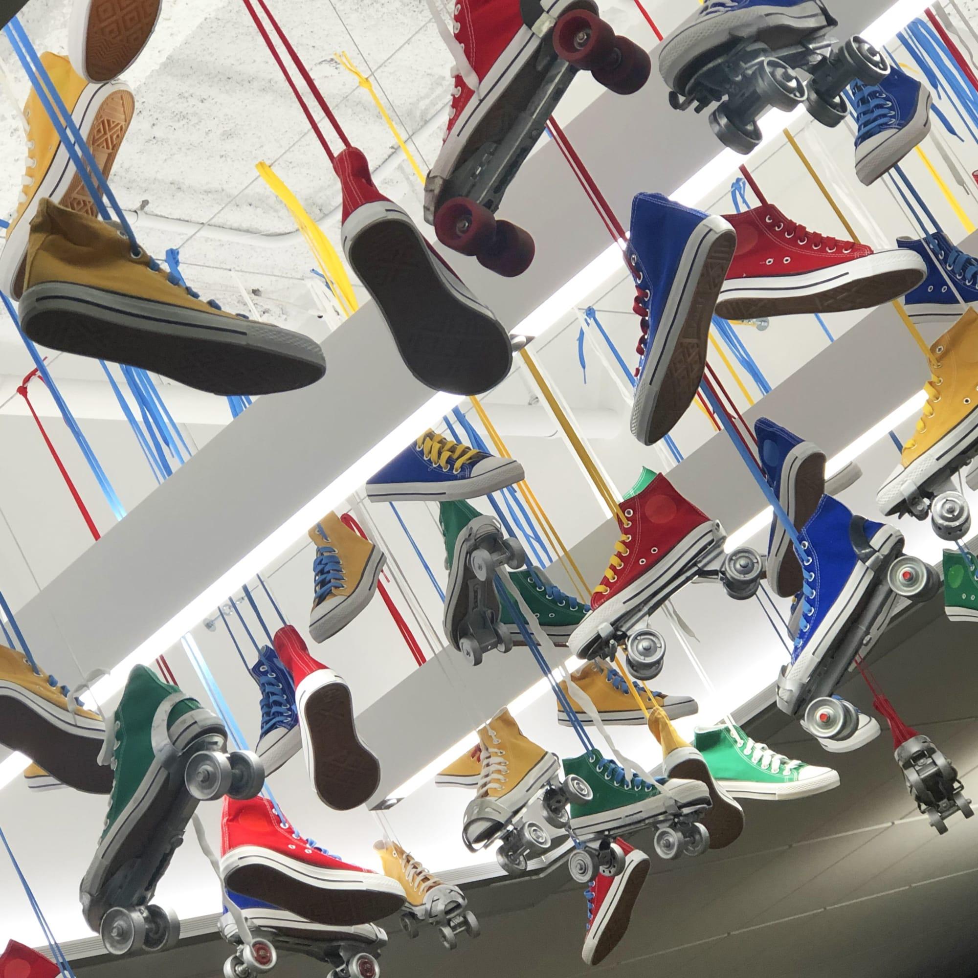 """Wall Treatments by ANTLRE - Hannah Sitzer seen at Google RWC SEA6, Redwood City - """"Skates"""""""