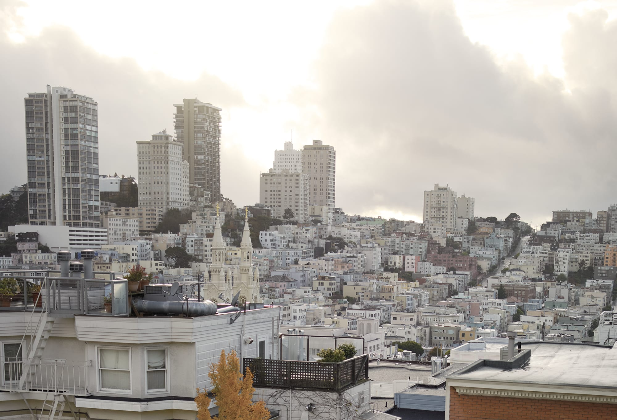 Photography by Tabitha Soren seen at Private Residence, San Francisco - Running Series - Nicholas, City Skyline
