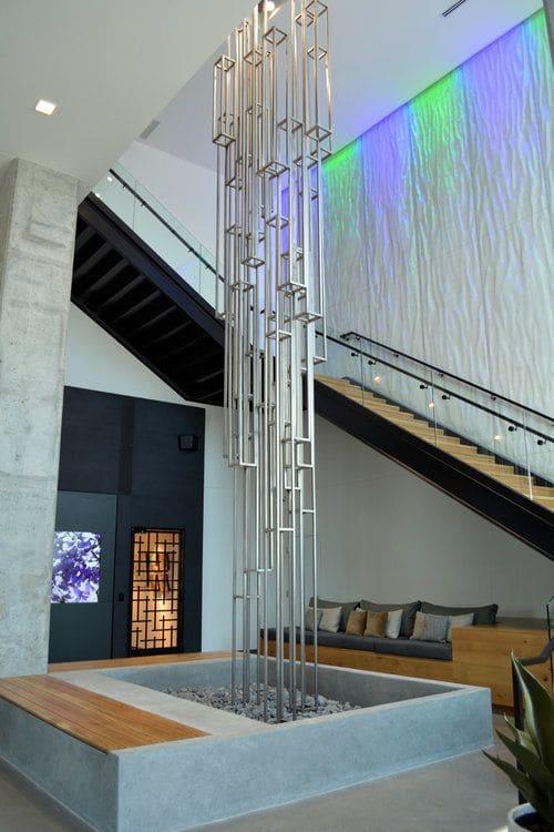 Sculptures by Patrick Pryor seen at Nordhaus Apartments, Minneapolis - Yggdrasil