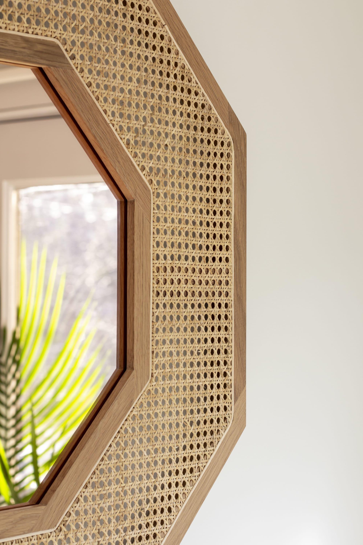 Rattattan Mirror By Sinca Design Seen At Boston Boston Wescover
