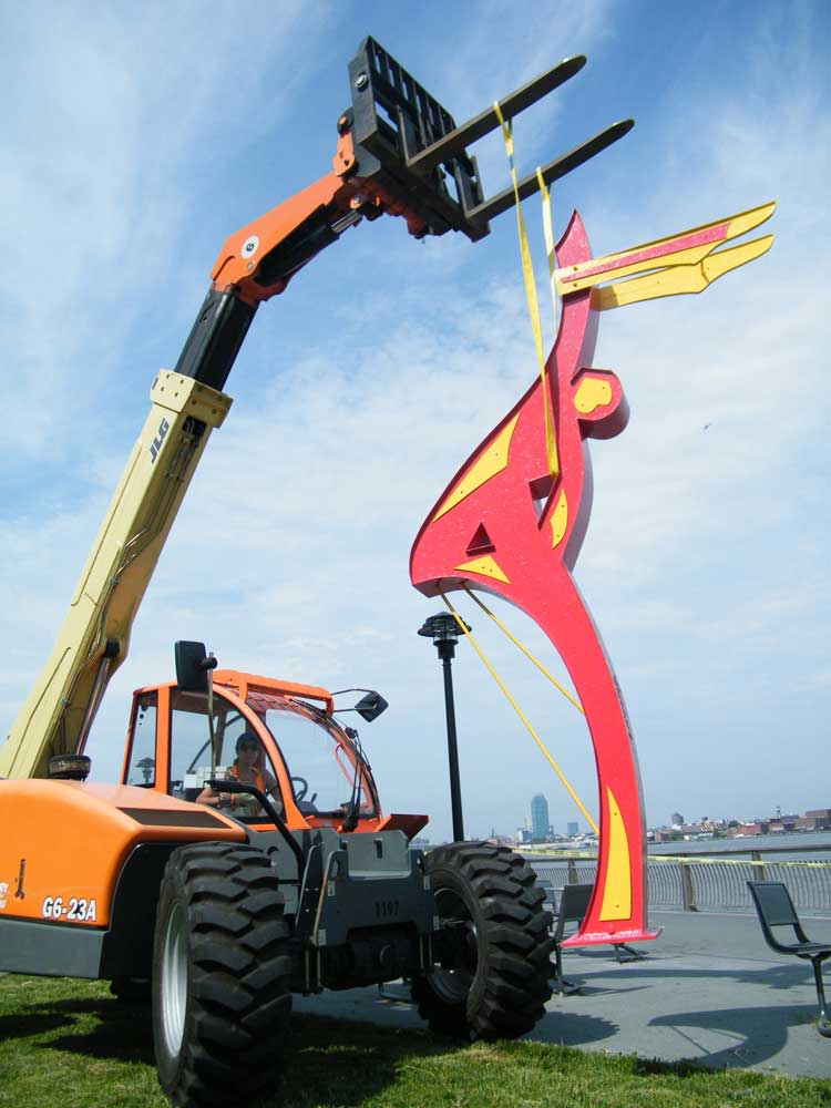 Public Sculptures by Gus Lina Fine Art seen at FDR Drive, New York - Dancers of the Wind