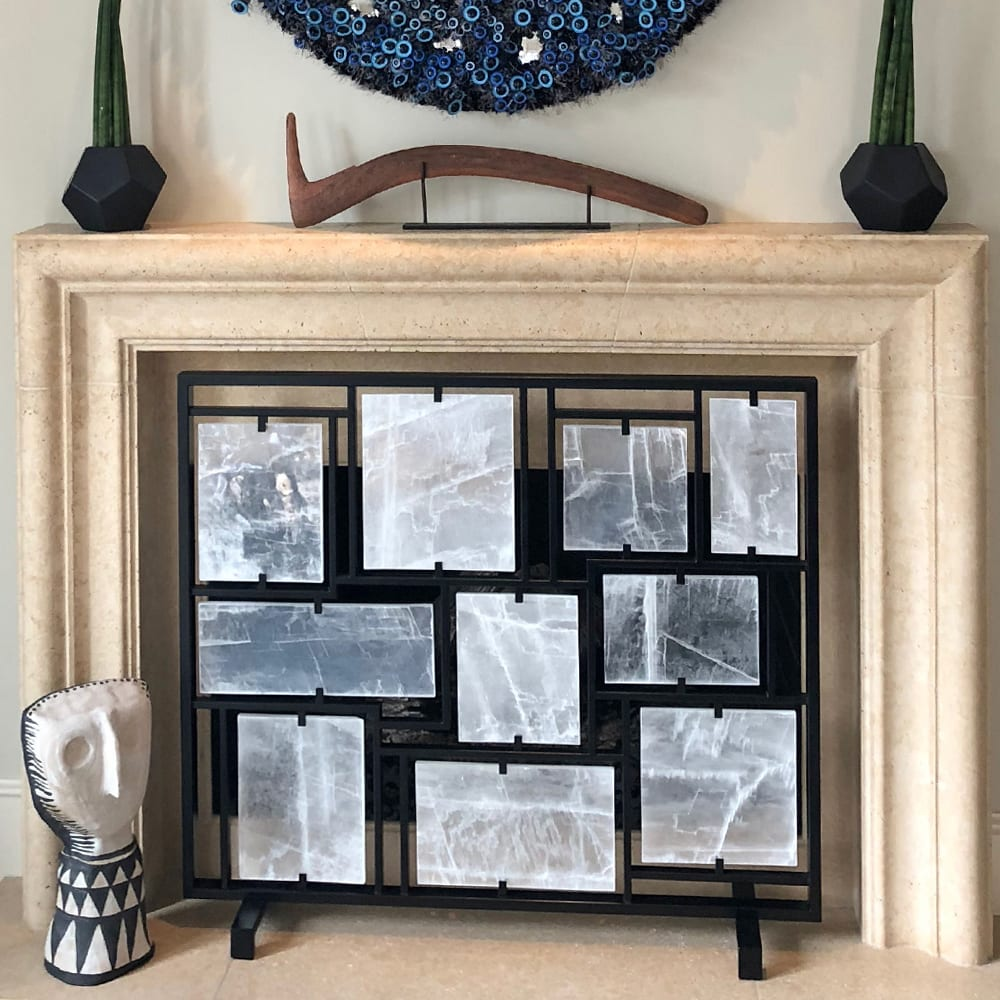 Selenite Fireplace Screen (Fire and Ice) by Ron Dier ...
