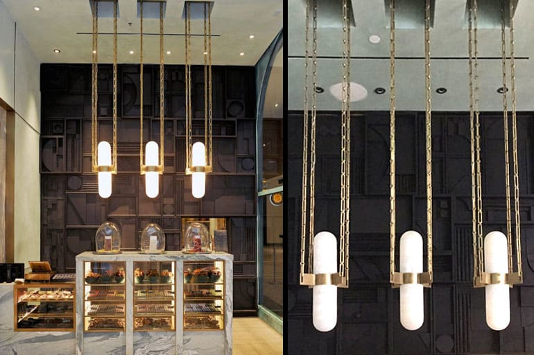 Pendants by Ron Dier Design seen at Compartes Chocolates Los Angeles Flagship Boutique at Century City, Los Angeles - Pendant Light Fixture
