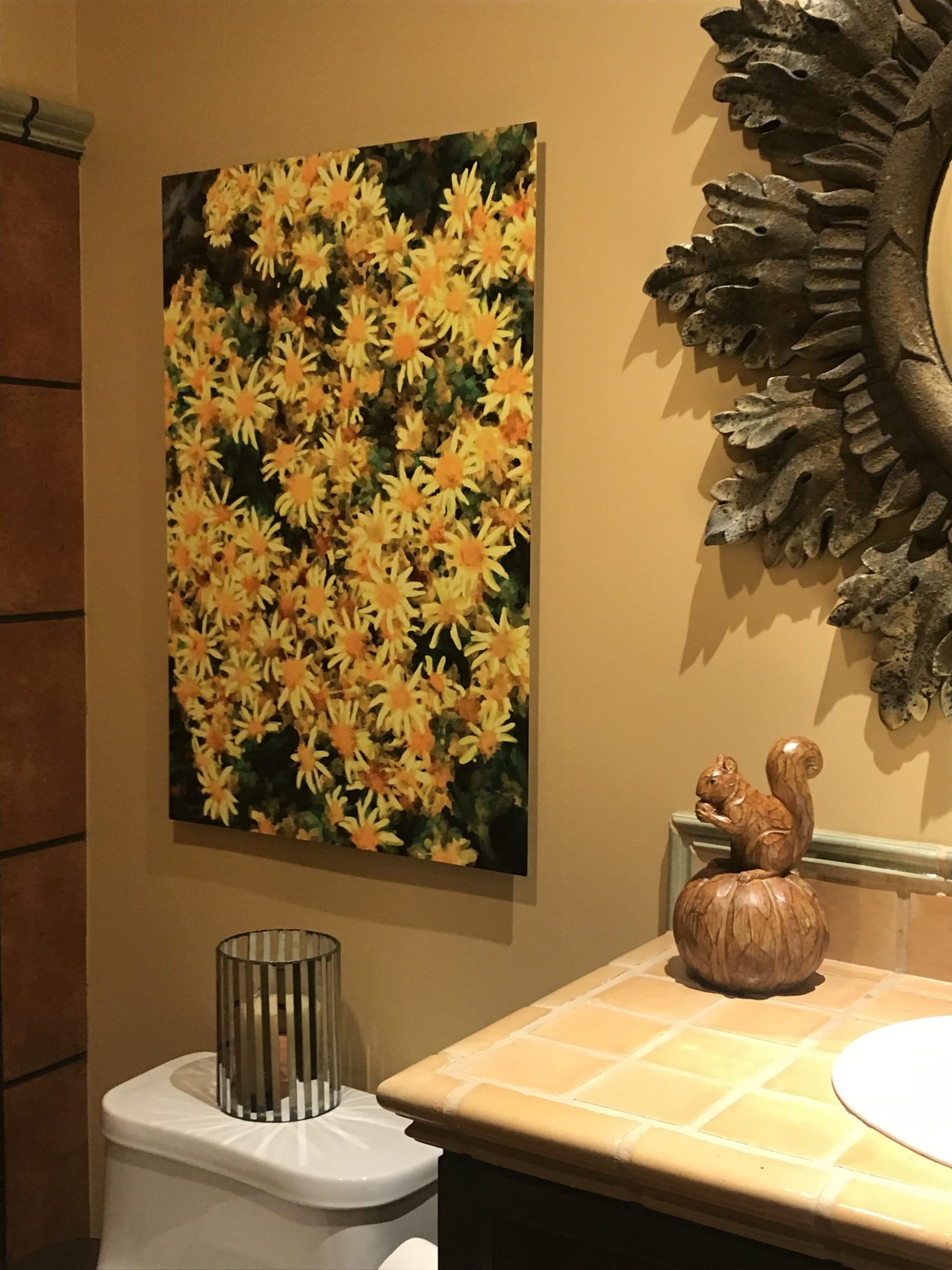 Yellow and white daisy flower painting