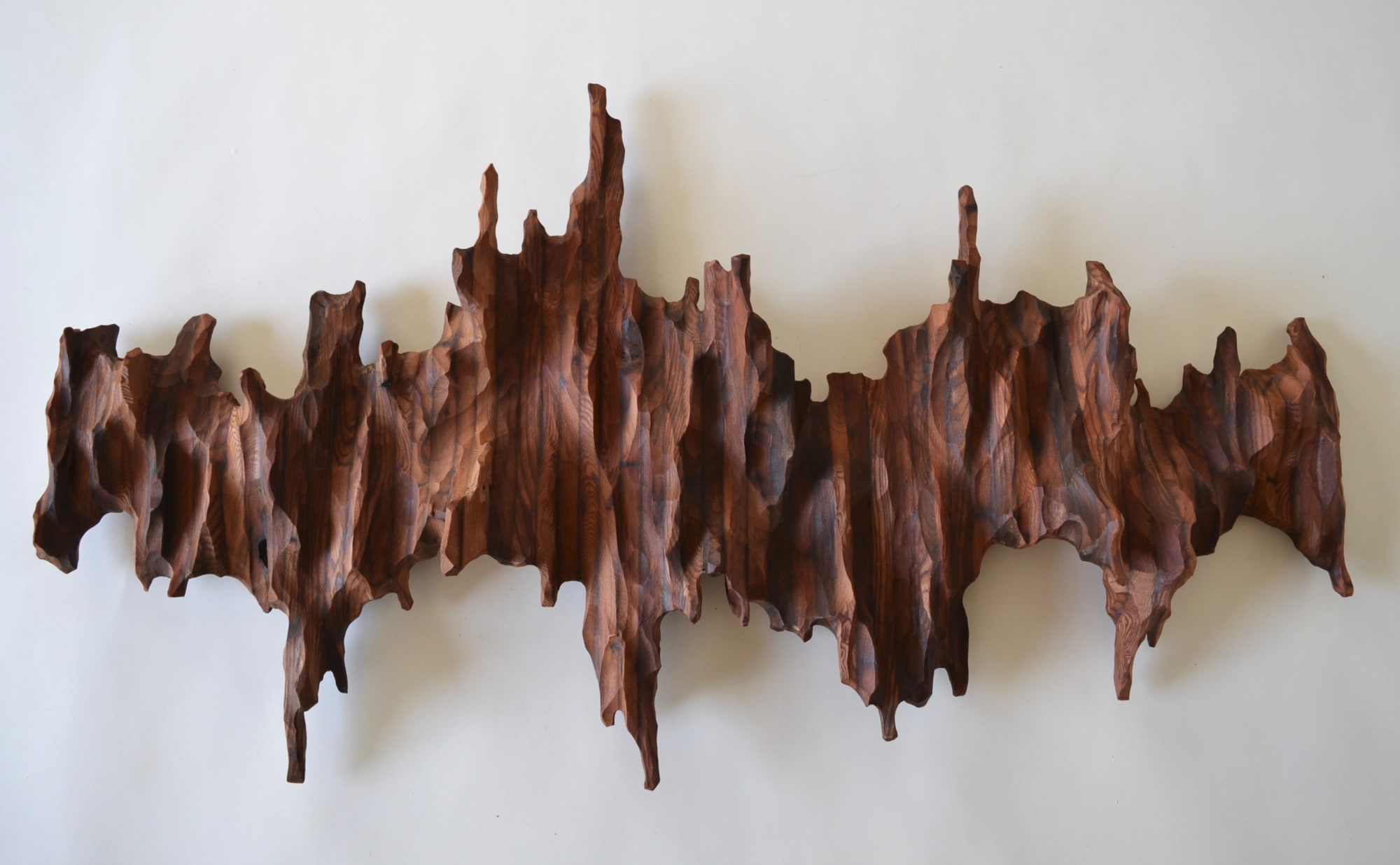 Sculptures by Lutz Hornischer seen at Bay Area Made x Wescover 2019 Design Showcase, Alameda - Wood Art - In the Mountains