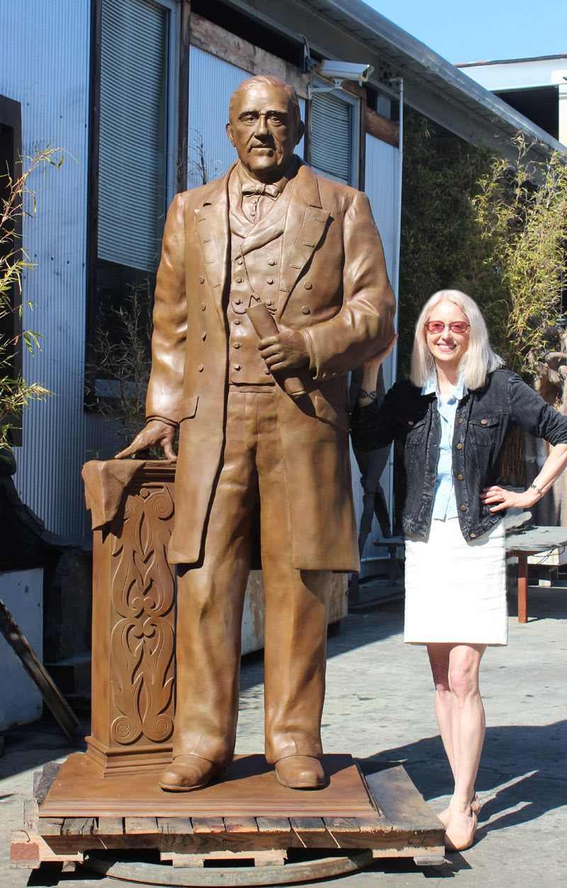 Public Sculptures by Paula Slater Sculpture seen at Todos Santos Plaza, Concord - Don Salvio Pacheco Monument