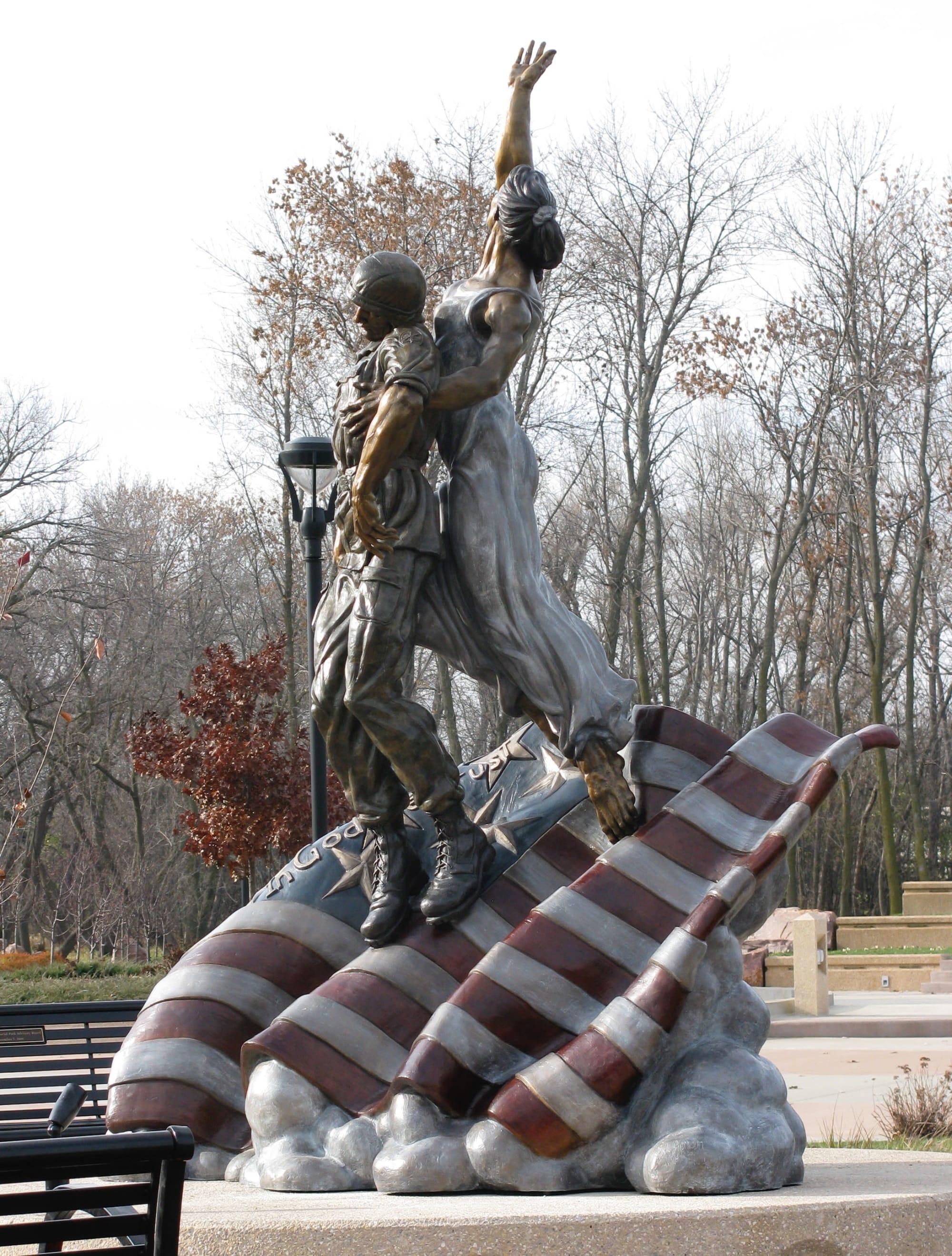 Public Sculptures by S. L. Jonson Studios seen at Sioux Falls, Sioux Falls - Going Home