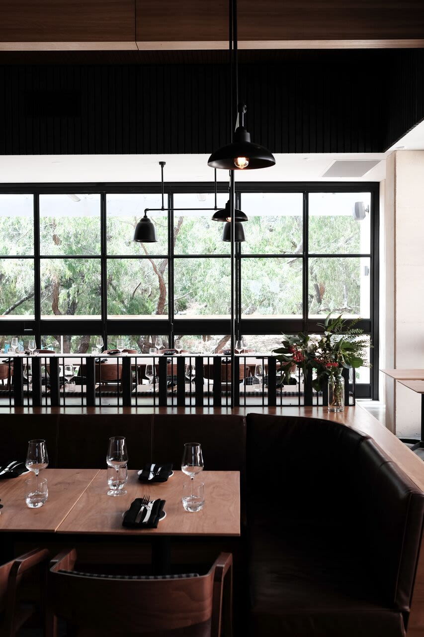 Interior Design by Samantha Eades Design seen at Yarri Restaurant + Bar, Dunsborough - Interior Design